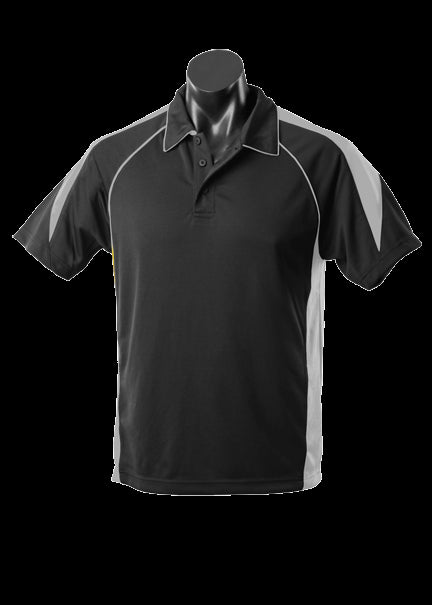 Mens Premier Polo Black/Ashe