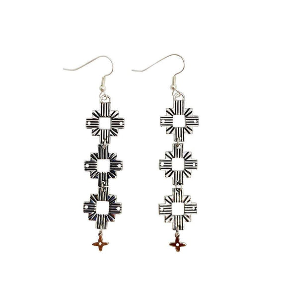 Aztec Earrings | Silver by Lindi Kingi Design shop online now
