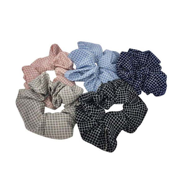 Scrunchie | Blue Grid by Queen Of The Foxes shop online now