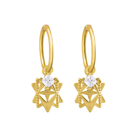 A Dusting of Jewels - Baroque Star Sleepers | Gold