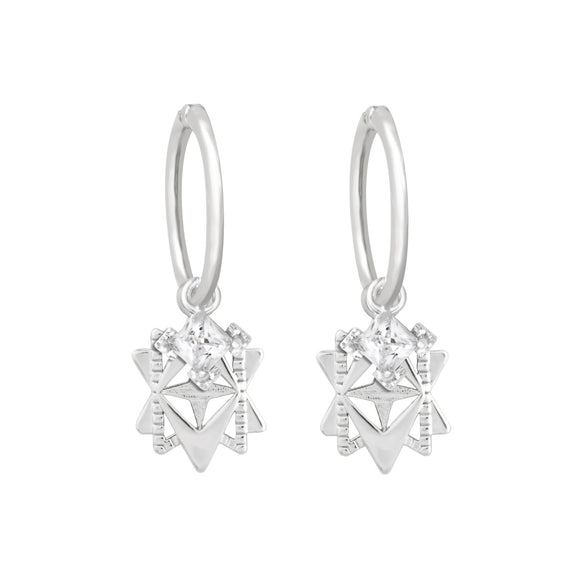 A Dusting of Jewels - Baroque Star Sleepers | Silver