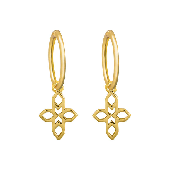 A Dusting of Jewels - Baroque Cross Sleepers | Gold