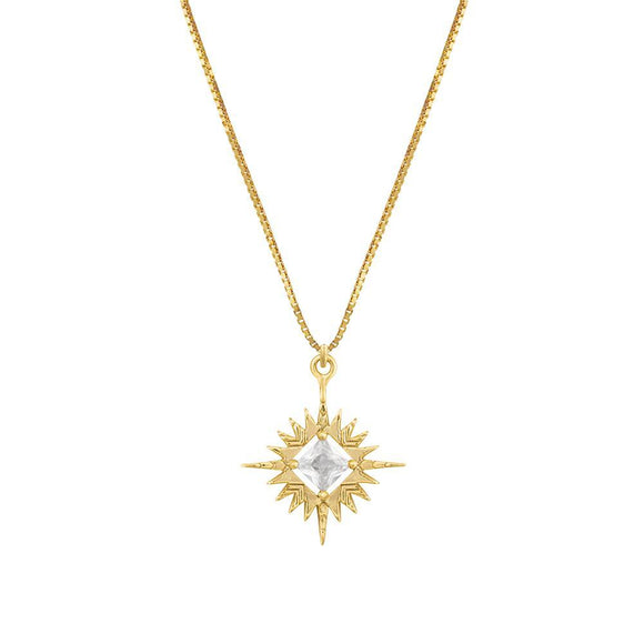 A Dusting of Jewels - Starburst Necklace  | Gold