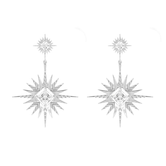 A Dusting of Jewels - Solar Earrings | Silver
