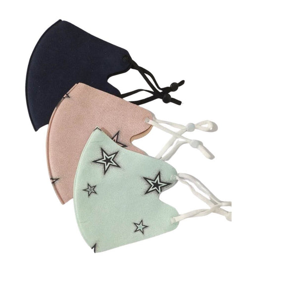 KIDS - Pack of 3 Face Masks | Mint Star, Blush Star and Navy