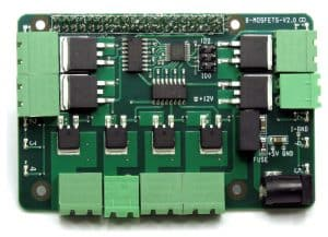 8-MOSFETS for Raspberry Pi Card