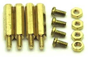 Brass mounting hardware