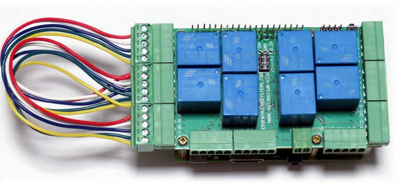 Home Automation testing GPIO and OPTO-INPUTS
