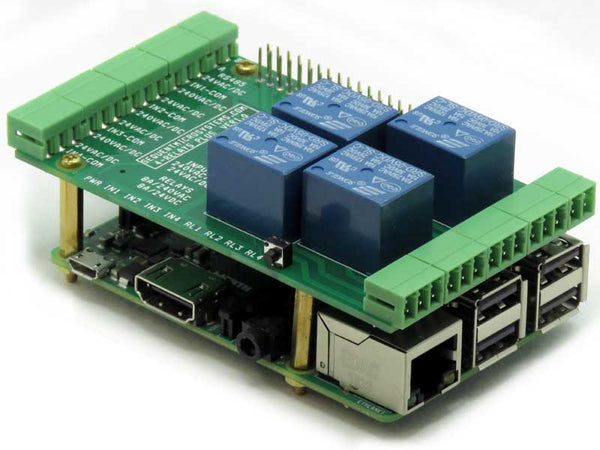 4-Relays/4-Inputs for Raspberry Pi