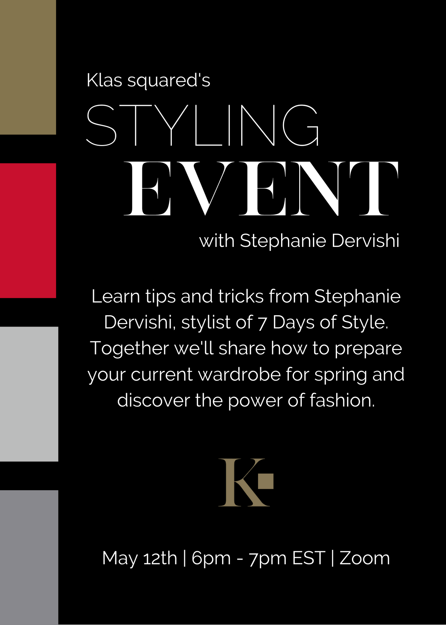 Klas squared invitation to styling event