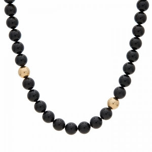 Shine Pearl Necklace – Black & Gold