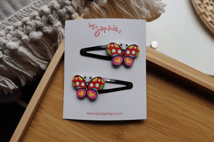 Open image in slideshow, butterfly hair clip sets