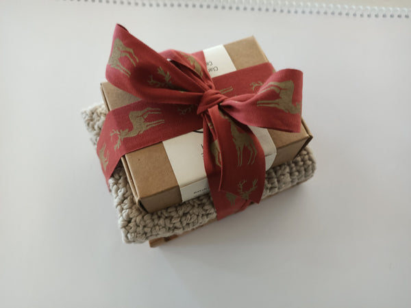 Soap & Wash-Cloth Gift Pack with Soap Stand