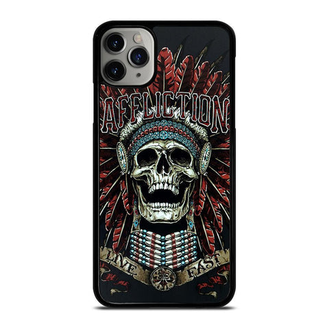 AFFLICTION SKULL INDIAN-iphone-11-pro-max-case-cover
