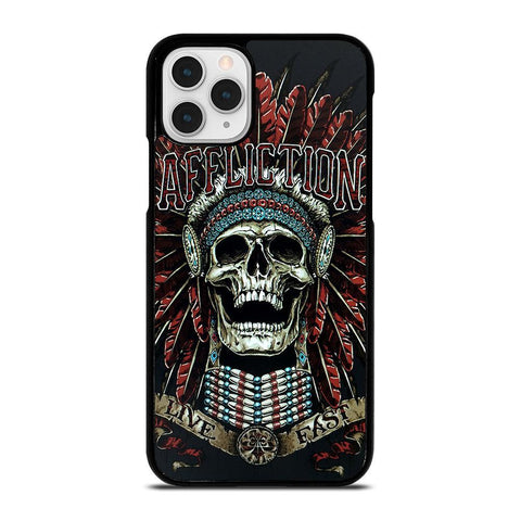 AFFLICTION SKULL INDIAN-iphone-11-pro-case-cover