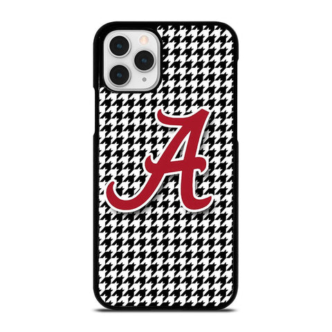 ALABAMA HOUNDSTOOTH CRIMSON TIDE-iphone-11-pro-case-cover