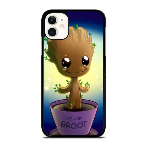 BABY GROOT IN POT Guardian of The Galaxy-iphone-11-case-cover