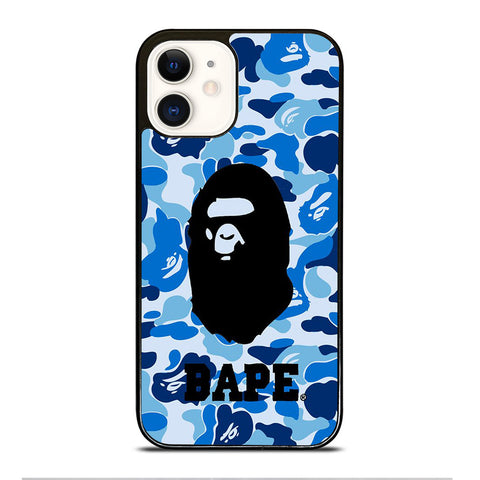 BATHING APE BAPE CAMO BLUE iPhone 12 Case Cover