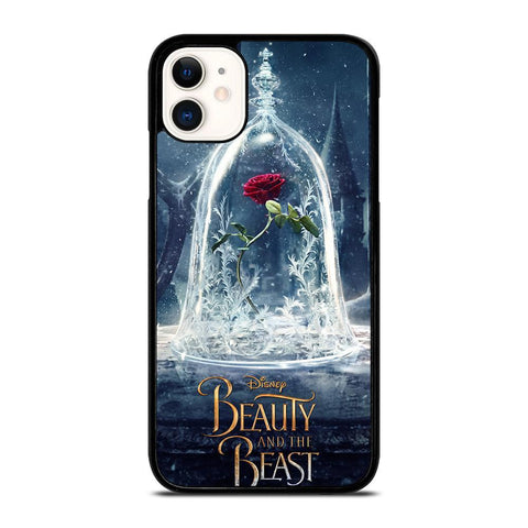 BEAUTY AND THE BEAST ROSE IN GLASS-iphone-11-case-cover