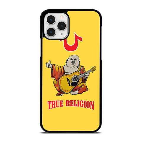 BIG BUDDHA TRUE RELIGION YELLOW-iphone-11-pro-case-cover