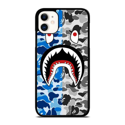 CAMO BAPE SHARK-iphone-11-case-cover