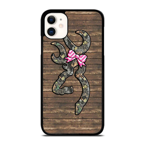 CAMO BROWNING RIBBON-iphone-11-case-cover