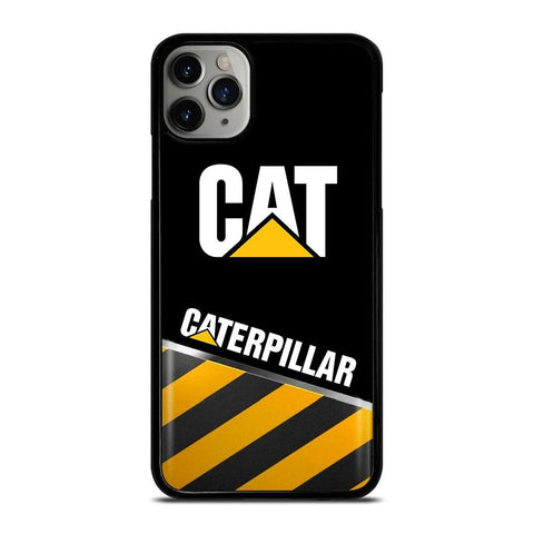 CAT CATERPILLAR STRIPE LOGO-iphone-11-pro-max-case-cover