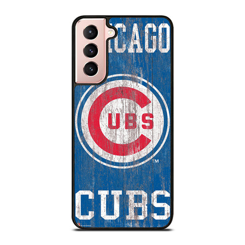 CHICAGO CUBS ON WOOD LOGO Samsung Galaxy S21 Case Cover
