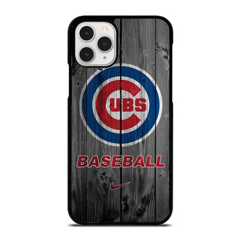 CHICAGO CUBS WOODEN LOGO-iphone-11-pro-case-cover