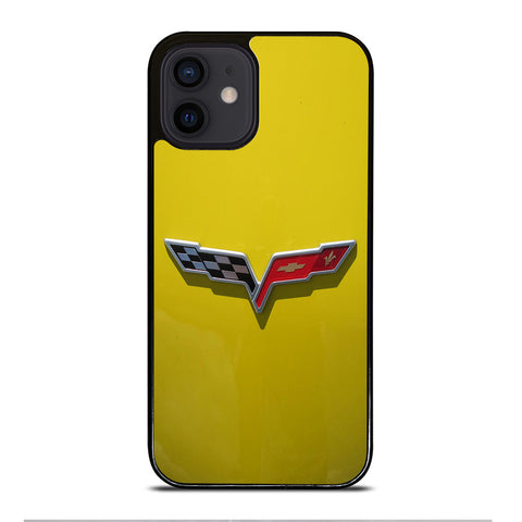 CORVETTE STINGRAY CHEVY YELLOW iPhone 12 Mini Case Cover