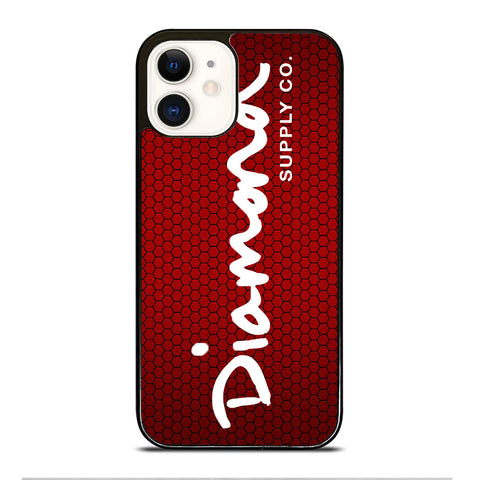 DIAMOND SUPPLY CO RED CARBON iPhone 12 Case Cover