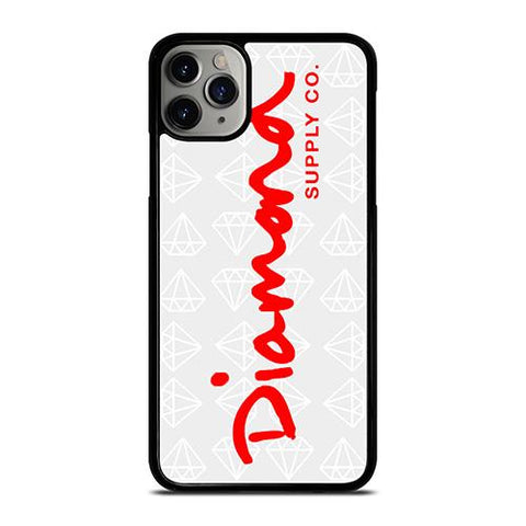 DIAMOND SUPPLY CO LOGO RED iPhone 11 Pro Max Case Cover