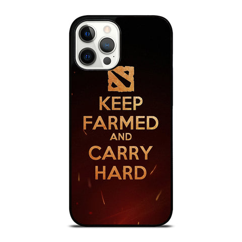 DOTA 2 KEEP FARMED iPhone 12 Pro Case Cover
