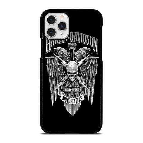 HARLEY DAVIDSON SKULL EAGLE-iphone-11-pro-case-cover