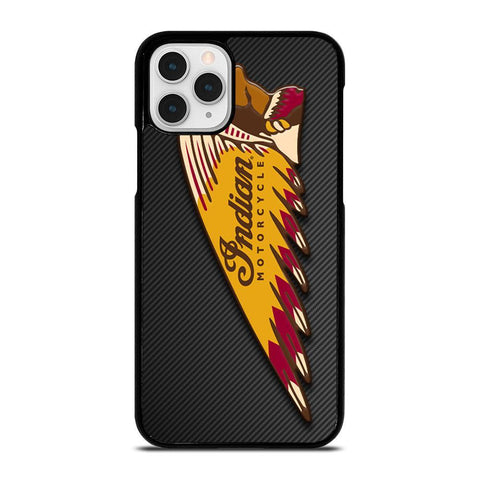 INDIAN MOTOR CYCLE CARBON LOGO-iphone-11-pro-case-cover