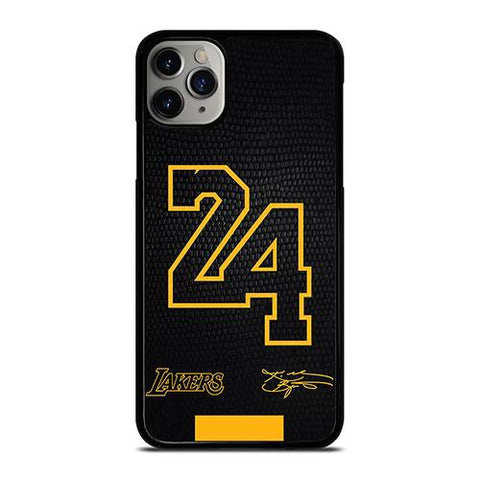 KOBE BRYANT BLACK MAMBA 24 SIGNATURE iPhone 11 Pro Max Case Cover