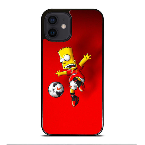MANCHESTER UNITED BART SIMPSON iPhone 12 Mini Case Cover