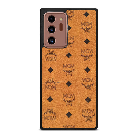 MCM WORLD WIDE BROWN LEATHER Samsung Galaxy Note 20 Ultra Case Cover