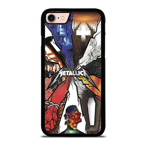 METALLICA GROUP ROCK BAND LOGO-iphone-8-case-cover