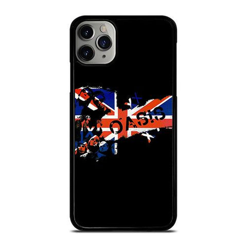 OASIS BAND ROCK BRITISH FLAG iPhone 11 Pro Max Case Cover