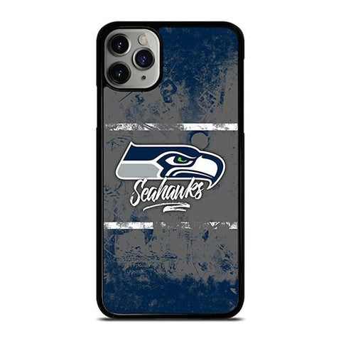 SEATTLE SEAHAWKS BRUSH LOGO iPhone 11 Pro Max Case Cover
