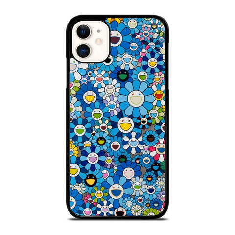 TAKASHI MURAKAMI FLOWERS BLUE-iphone-11-case-cover