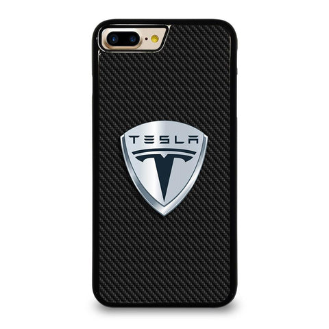 TESLA MOTORS EMBLEM CARBON iPhone 7 Plus Case Cover