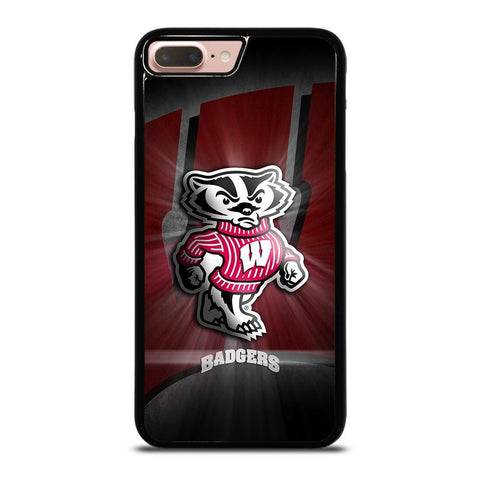 WISCONSIN BADGER LOGO-iphone-8-plus-case-cover