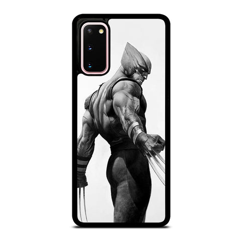 WOLVERINE X-MEN BLACK WHITE ART Samsung Galaxy S20 Case Cover