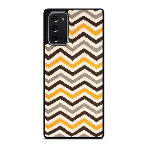 YELLOW BROWN CHEVRON PATTERN Samsung Galaxy Note 20 Case Cover
