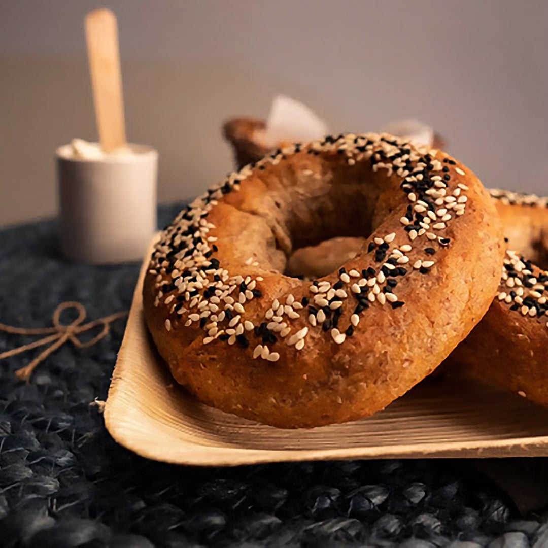 2 Keto Bagels (Contains Gluten)(2 Plain Bagels)