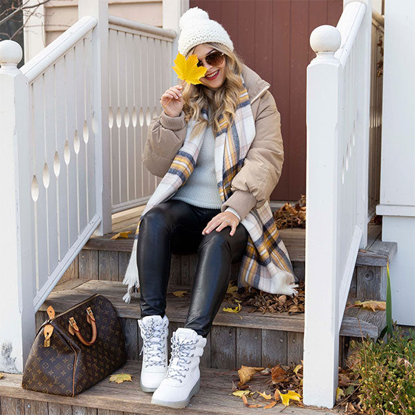 Pax Leather Winter Boot - White