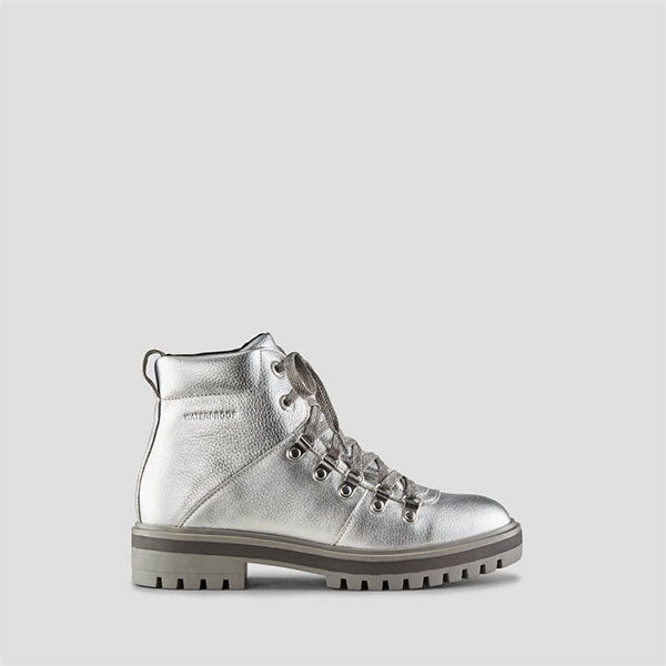 Nash Leather Ankle Boot - Silver
