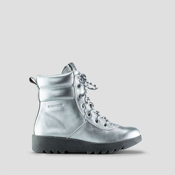 Pax Leather Winter Boot - Silver